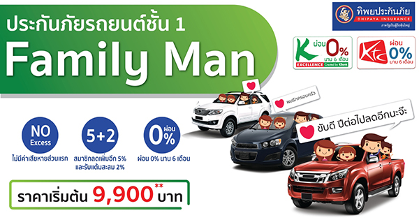 ประกันภัยรถยนต์ชั้น 1 Family Man